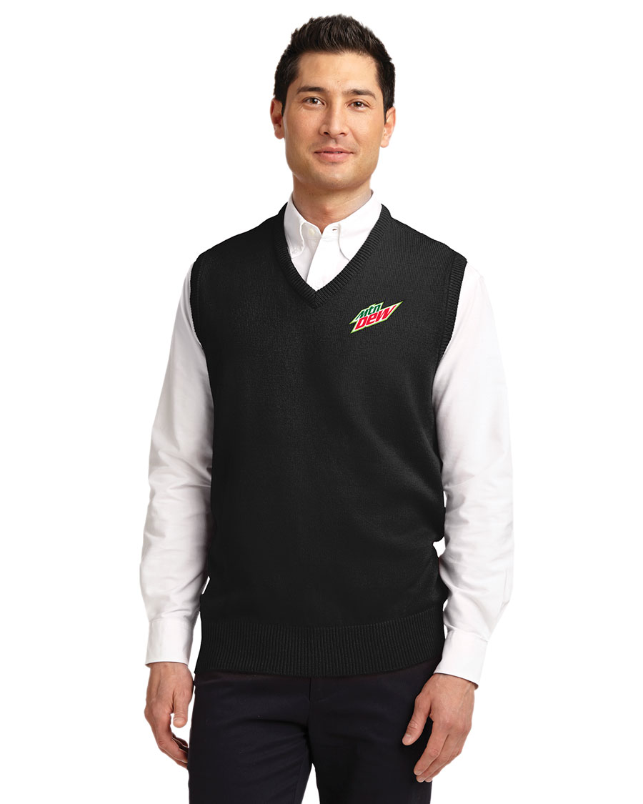 Men's Value V-Neck Sweater Vest - MTN Dew