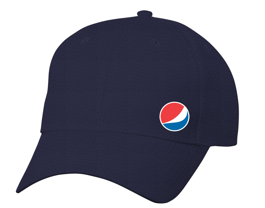 Pepsi Globe Diamond Pattern Dri Fit Cap - Navy - Login For Special $