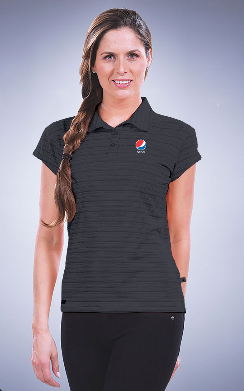 Women's Micro Stripe Princeton Performance Polo - Pepsi