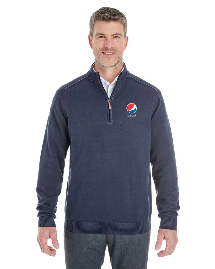 Men's Manchester Fully-Fashioned Quarter-Zip Sweater - Pepsi