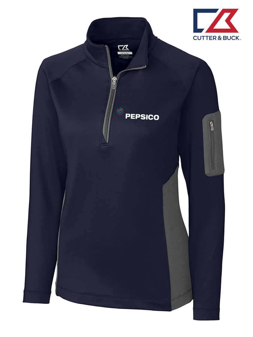 Cutter & Buck Ladies' Shaw Hybrid Half Zip - Pepsico
