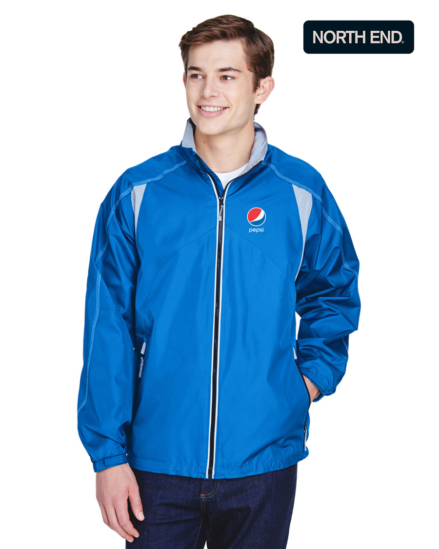 North End Men's Endurance Lightweight Colorblock Jacket - Pepsi