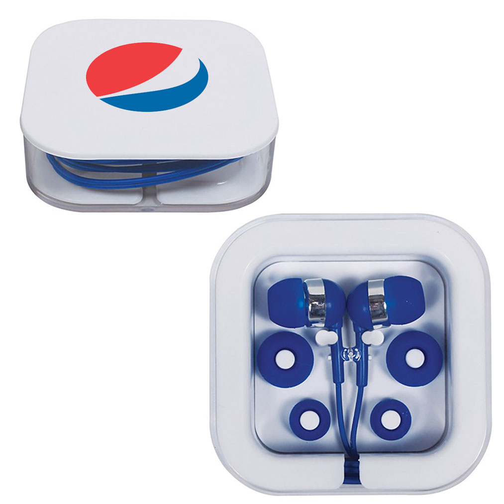 Earbuds in Square Case - Pepsi