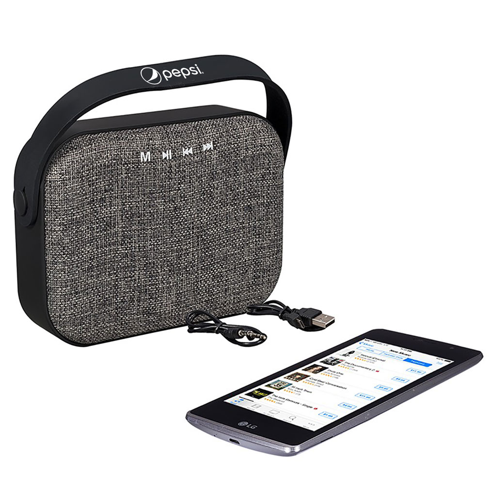 Woven Fabric Bluetooth® Speaker - Pepsi