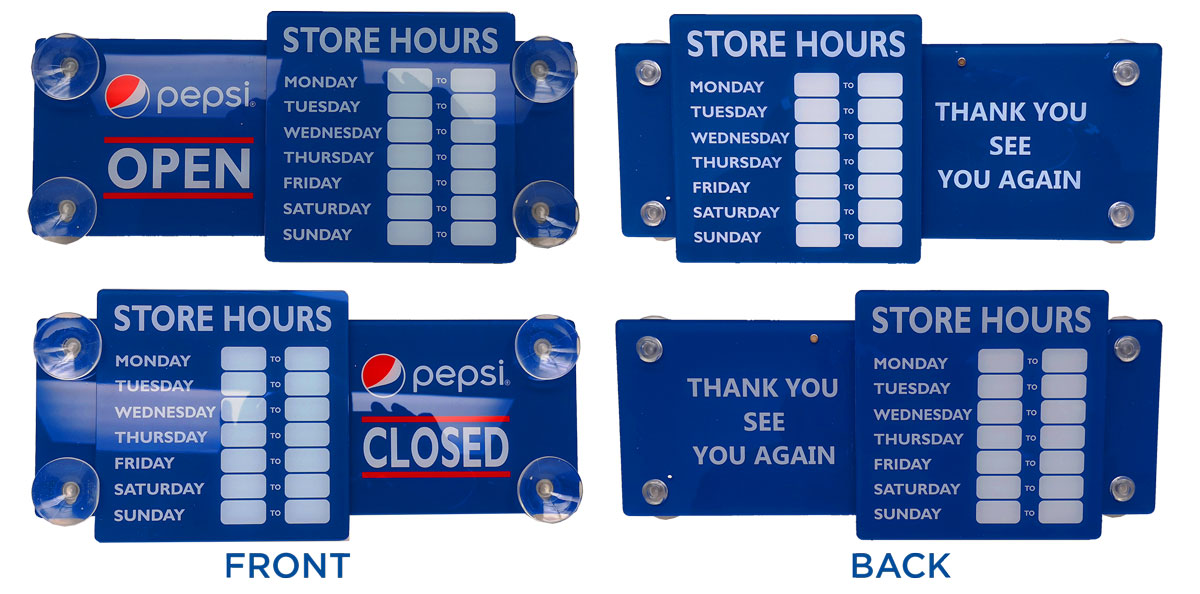 Pepsi Acrylic Door Sign.....Please Login To see our Special Pricing