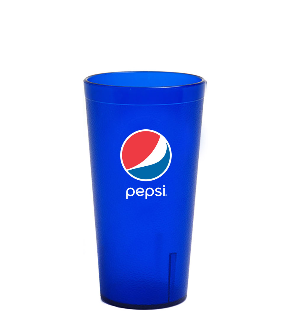 16 oz. Frosted Royal Blue Plastic Tumbler - Pepsi......Please Login To see our very Special Pricing