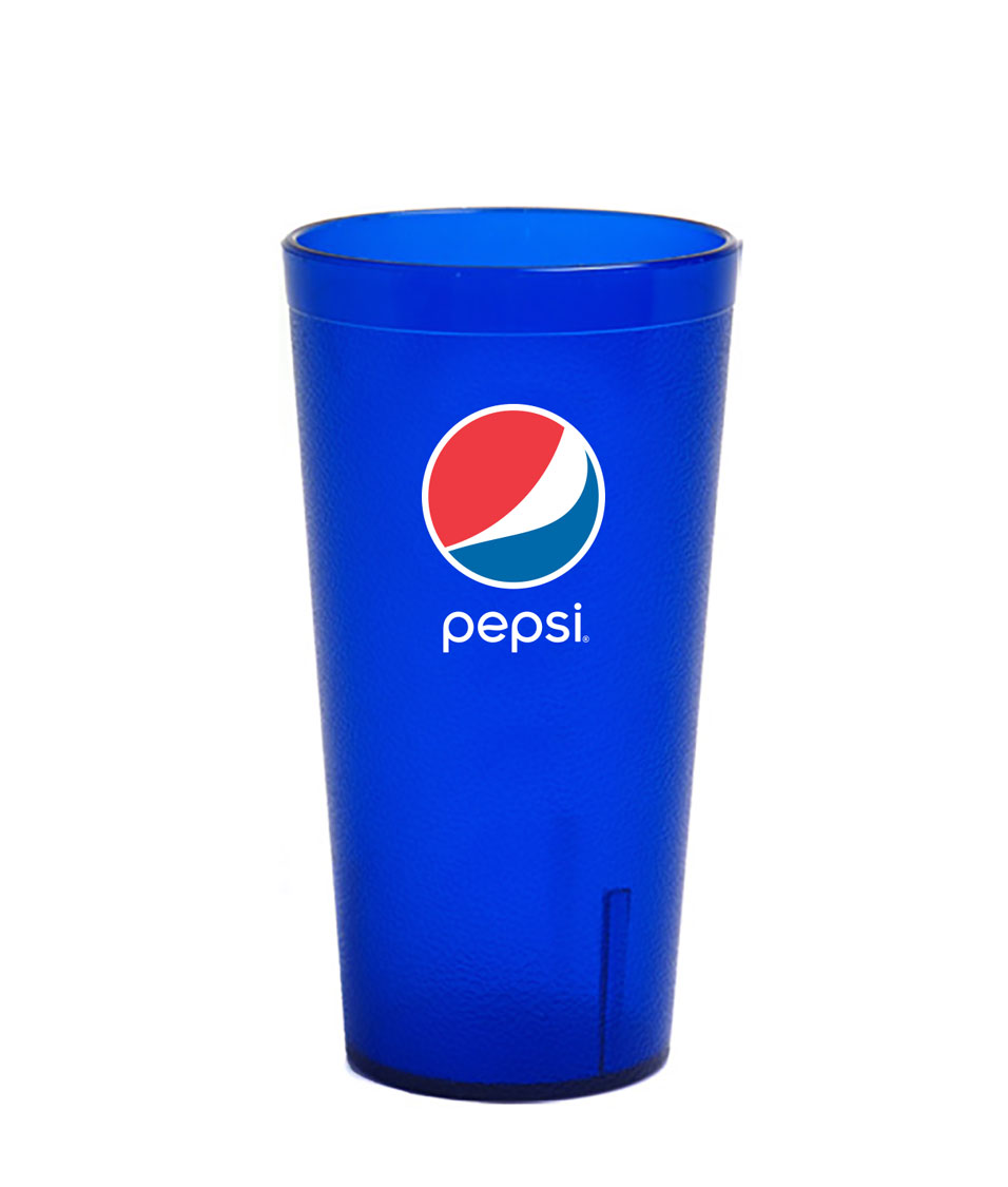 20 oz. Frosted Royal Blue Plastic Tumber - Pepsi......Please Login To see our very Special Pricing