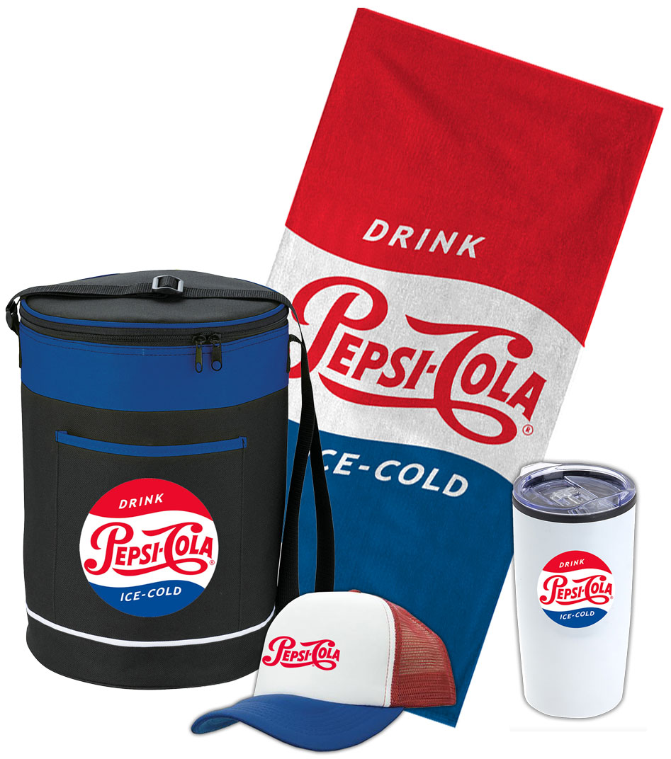 Pepsi-Cola Holiday Barrel Cooler Bag Promo