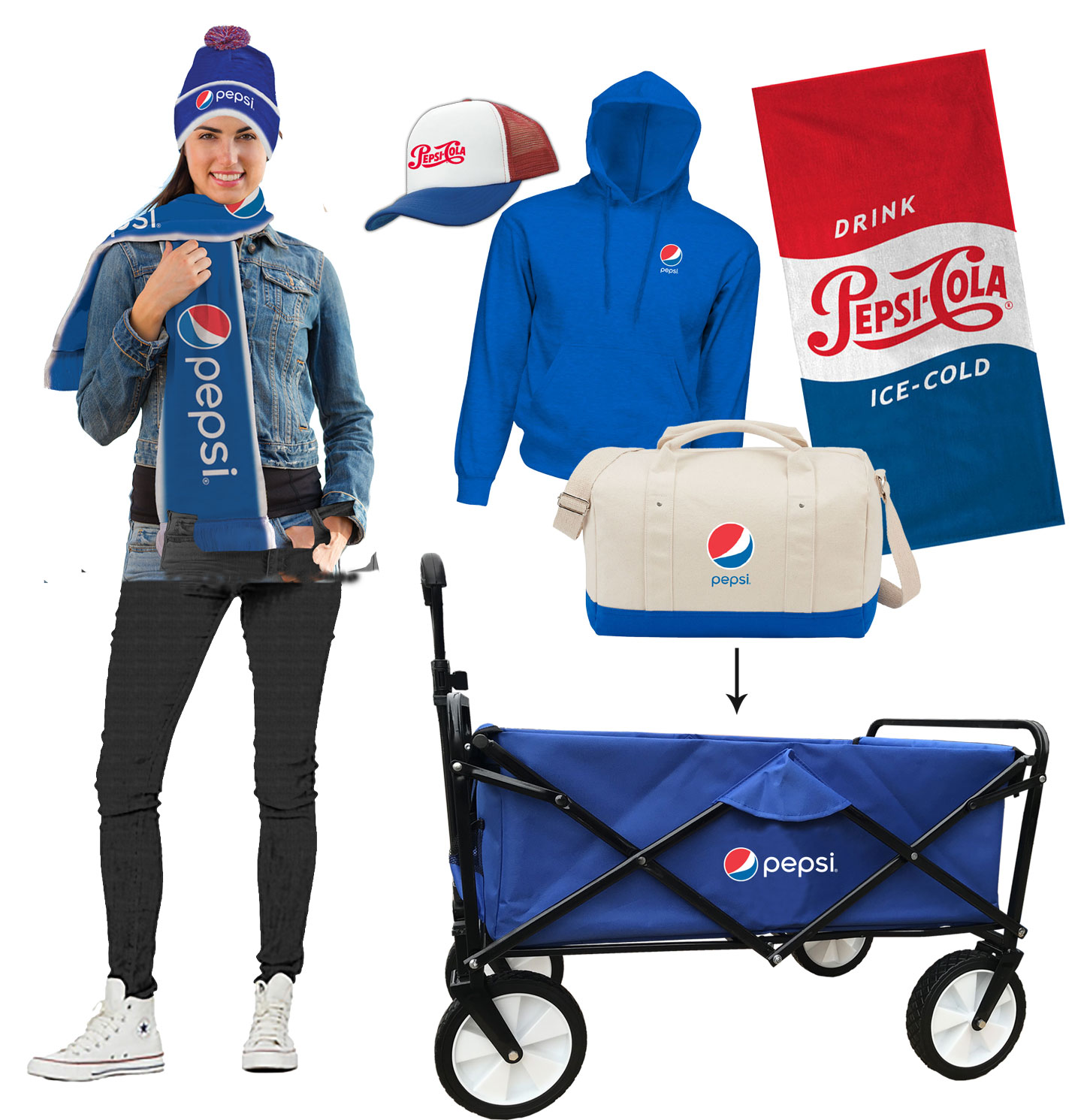 Holiday Pepsi Wagon Gift Set