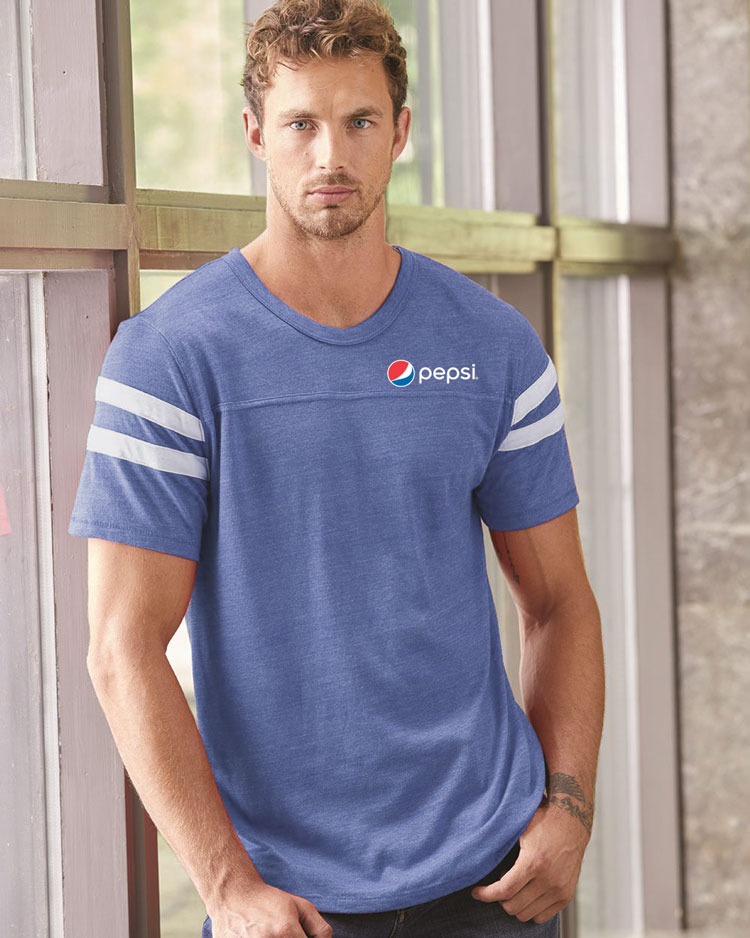 Men's Alternative - Eco-Jersey Football Tee - pepsi