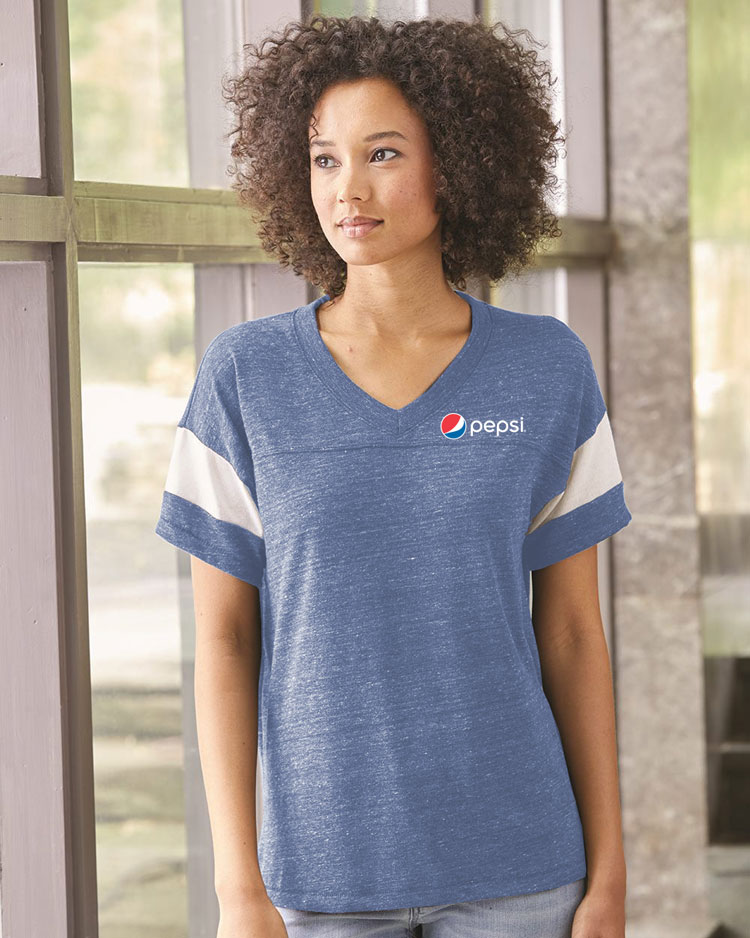 Women's Alternative Eco-Jersey Football T-Shirt - Pepsi