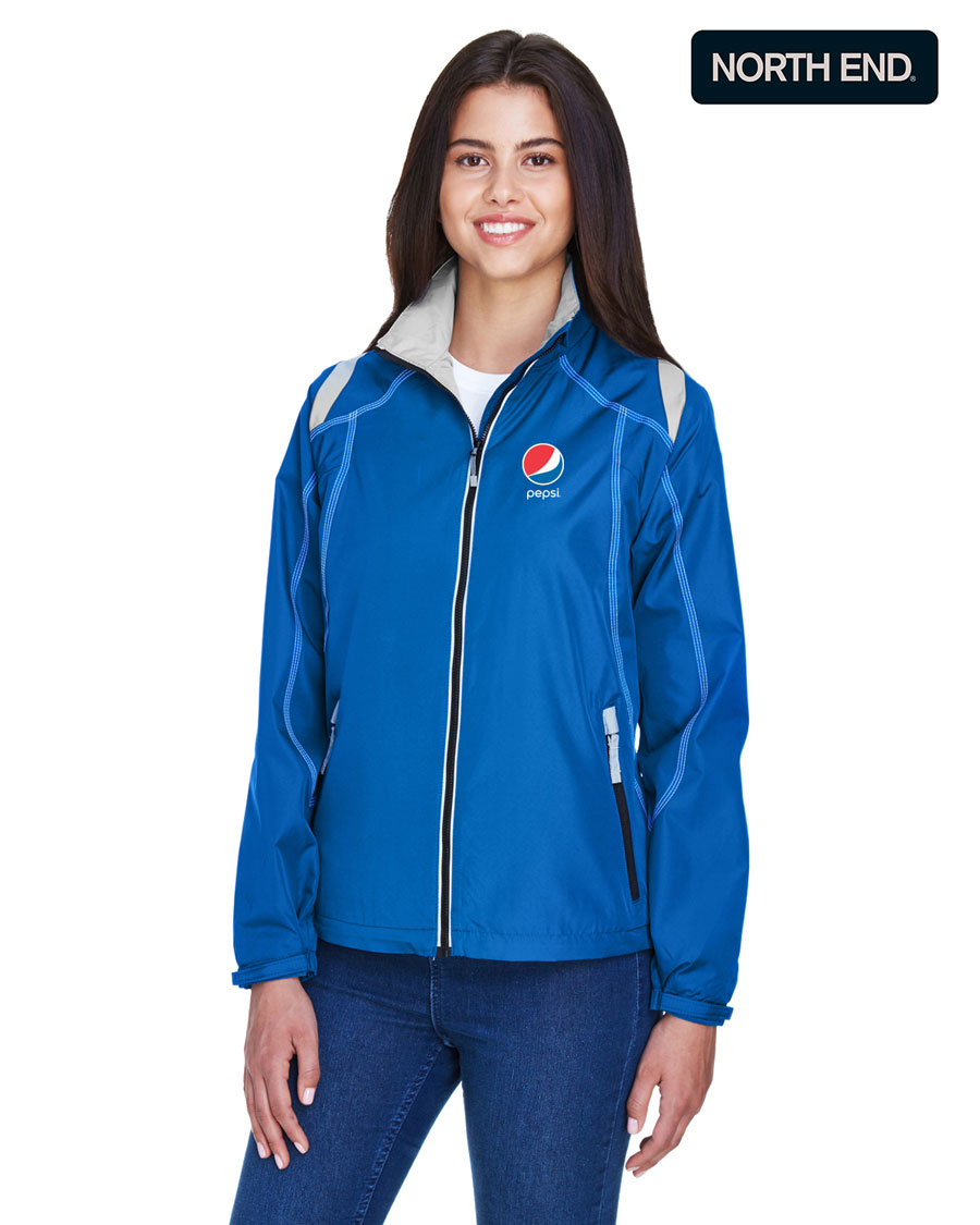 North End Ladies' Endurance Lightweight Colorblock Jacket - Pepsi