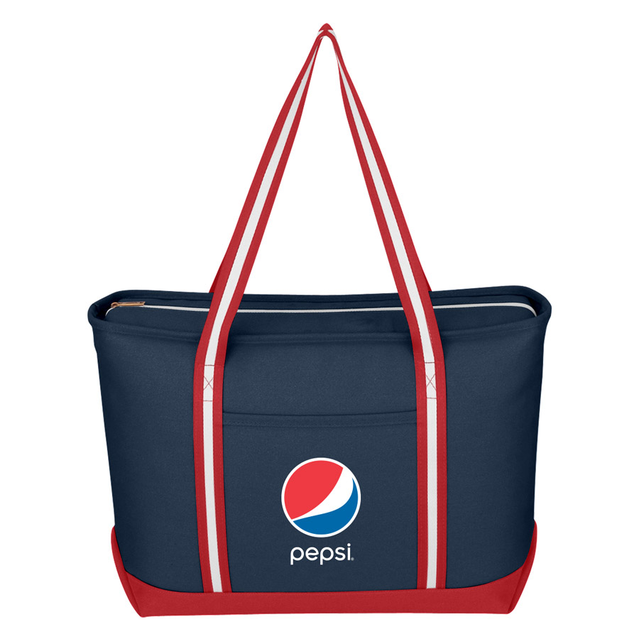 Large Cotton Canvas Admiral Tote Bag - Pepsi