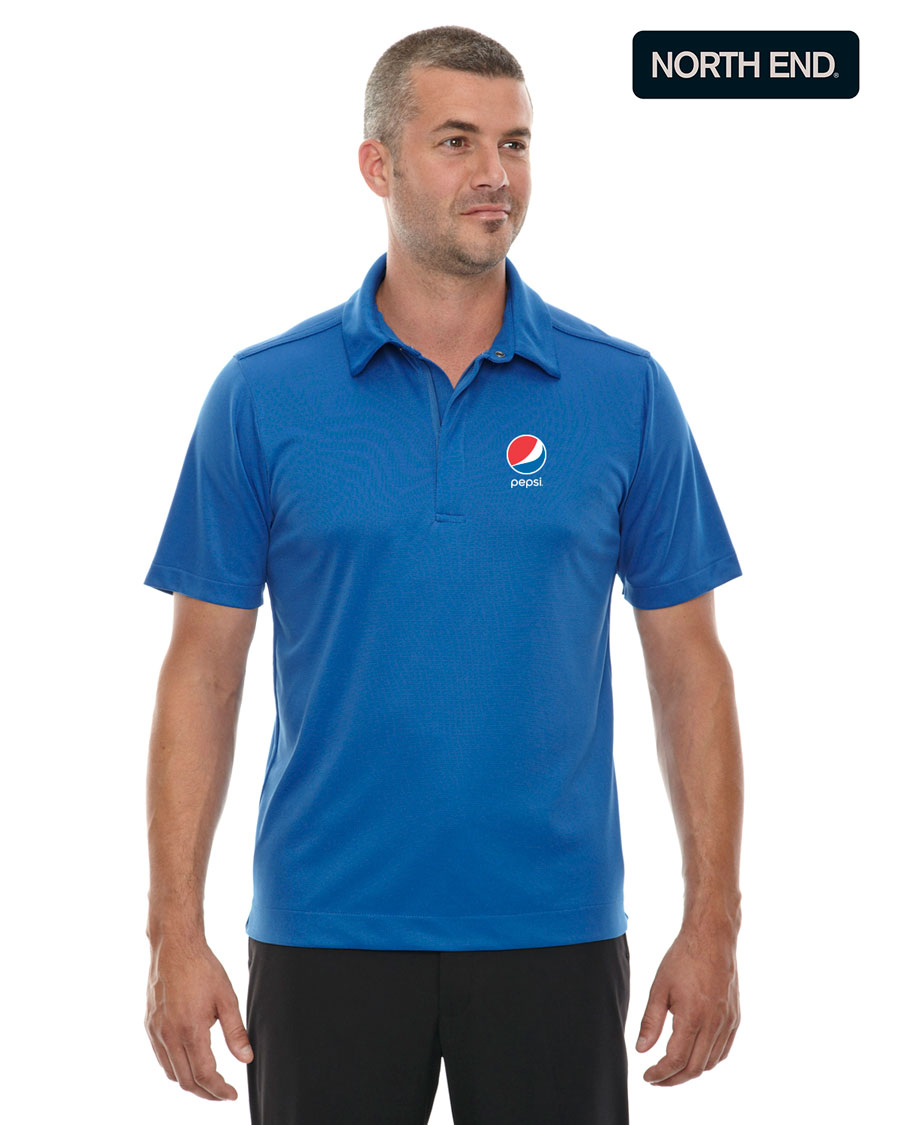 North End Men's Evap Quick Dry Performance Polo - Pepsi