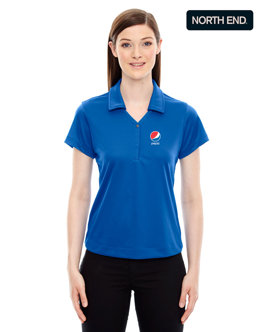 North End Ladies' Evap Quick Dry Performance Polo - Pepsi