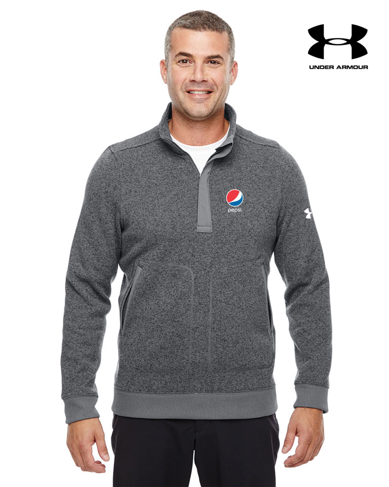 Under Armour Men's Elevate 1/4 Zip Sweater - Pepsi