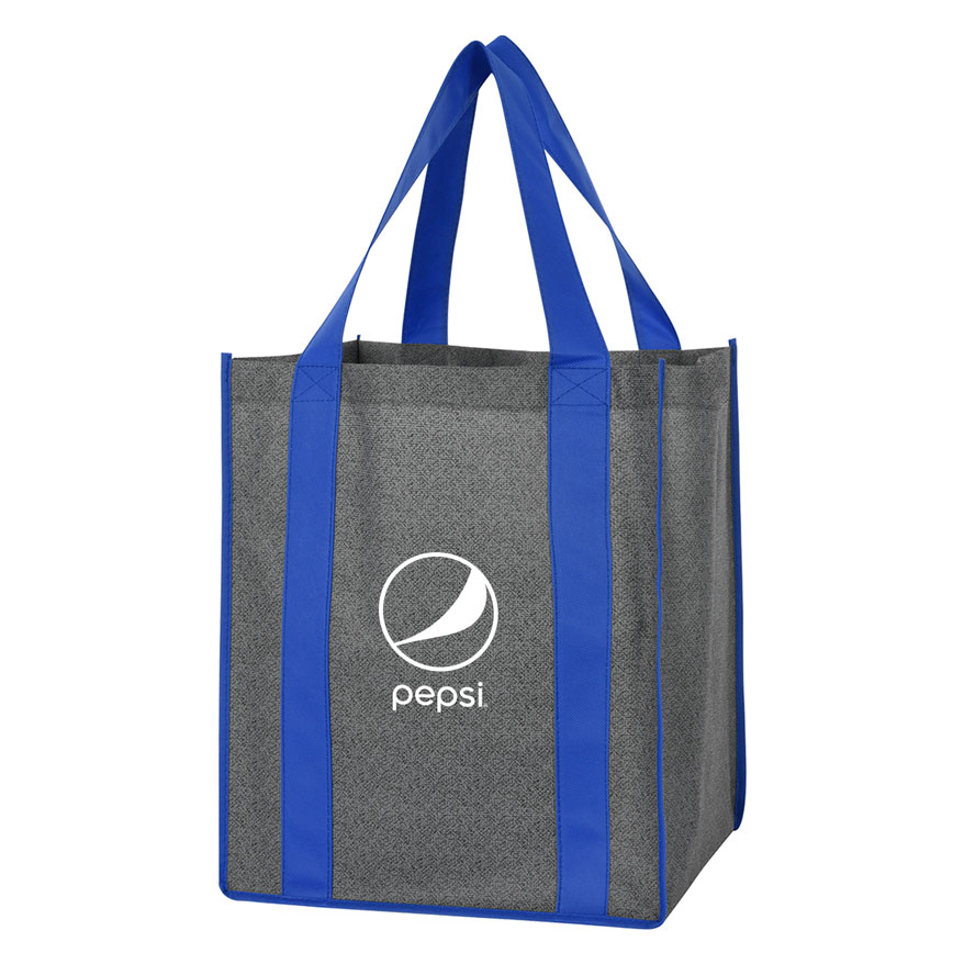 Heathered Non-Woven Shopper Tote Bag