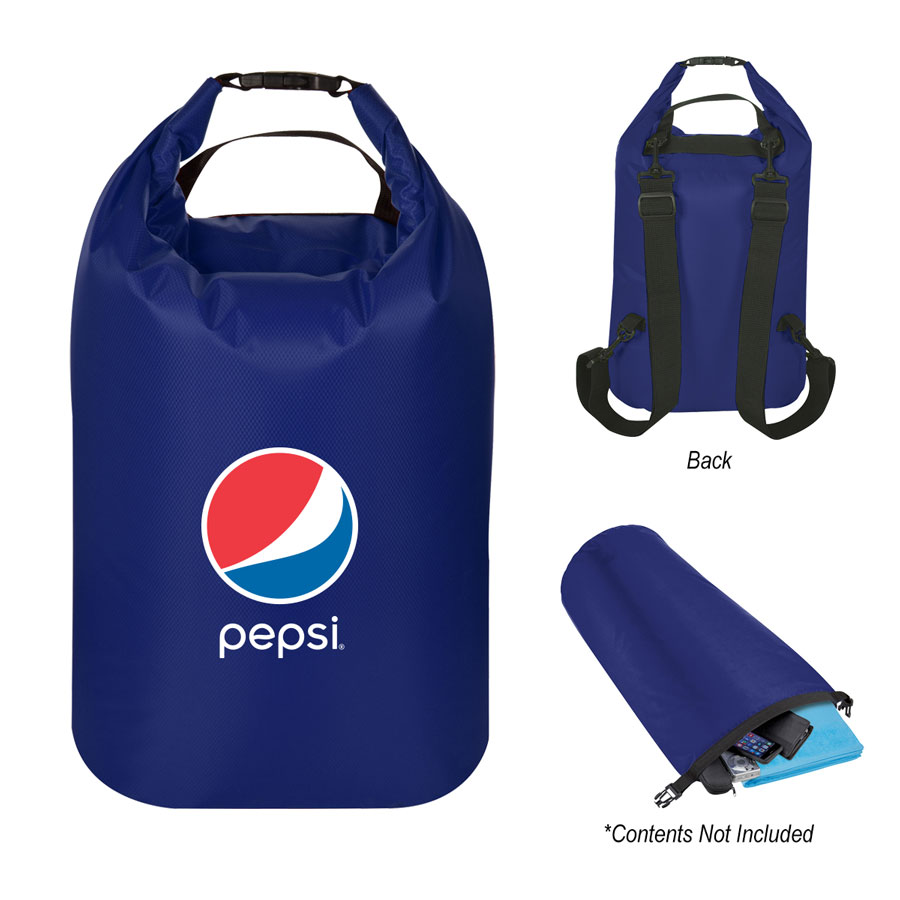 Waterproof Dry Bag Backpack - Pepsi