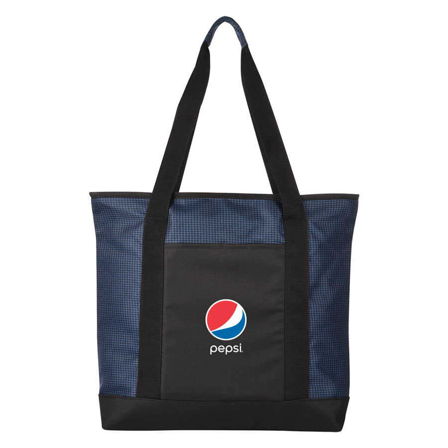 Hunter Houndstooth Tote Bag - Pepsi