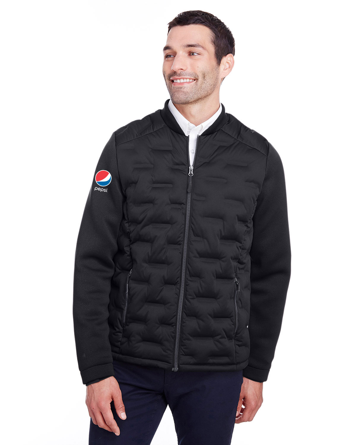 North End Men's Loft Pioneer Hybrid Bomber Jacket - Pepsi