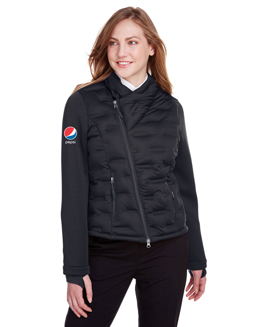 North End Ladies Loft Pioneer Hybrid Bomber Jacket - Pepsi