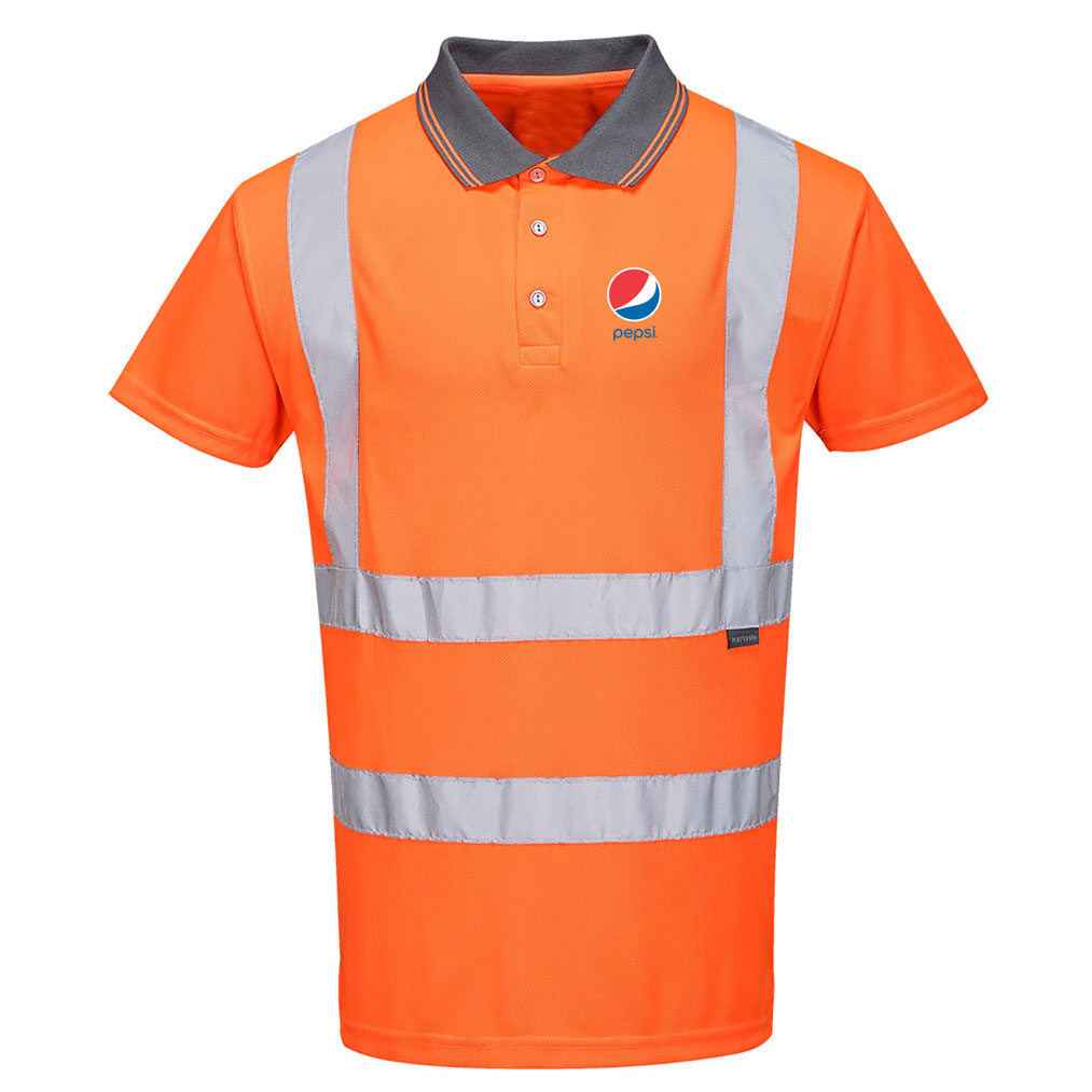 Hi-Vis Short Sleeve Polo  - pepsi
