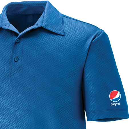 Men's Performance Stretch Embossed Print Polo - Pepsi