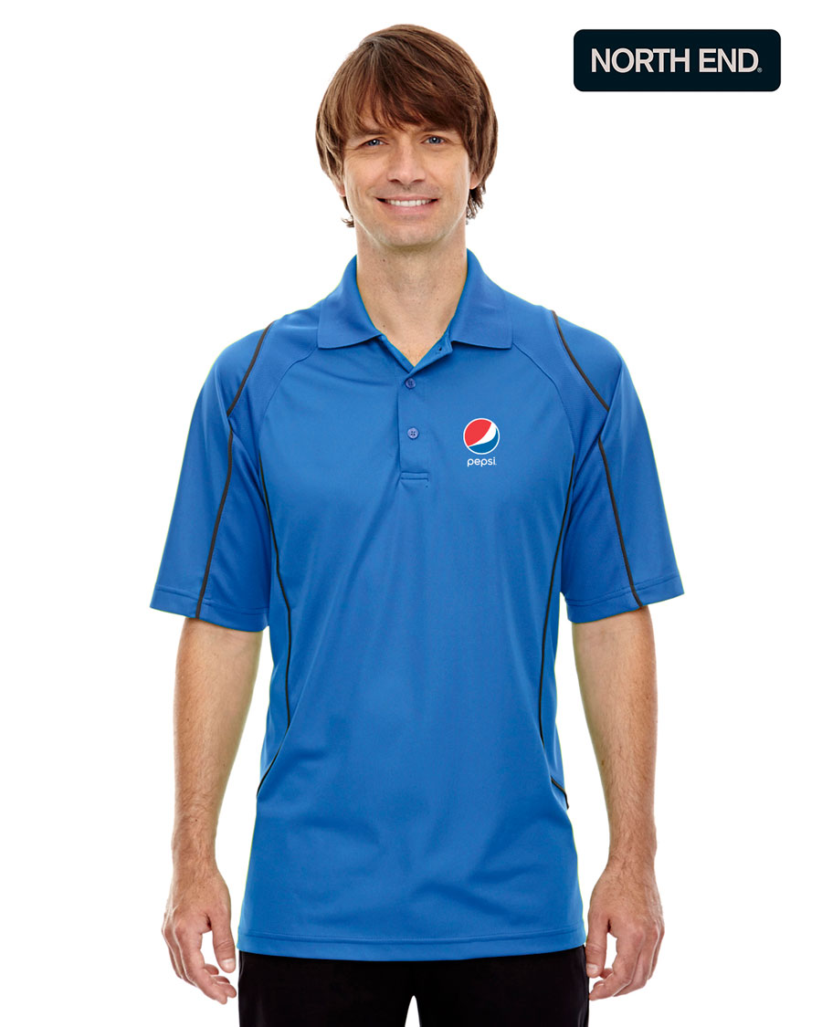 Men's Eperformance™ Velocity Snag Protection Colorblock Polo with Piping - Pepsi