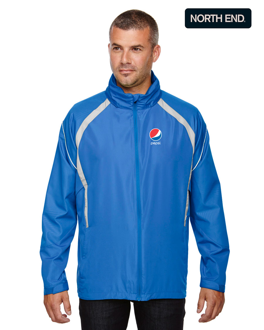 North End Men's Sirius Lightweight Jacket with Embossed Print - Pepsi