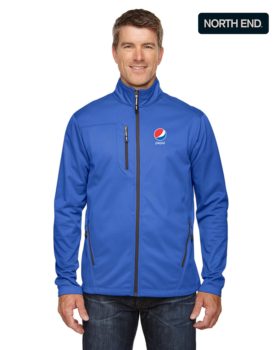 North End Men's Printed Fleece Jackets - Pepsi