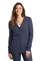 Ladies Marled Cardigan Sweater - Pepsi