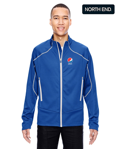 North End Men's Interactive Cadance Two-Tone Brush Back Jacket - Pepsi
