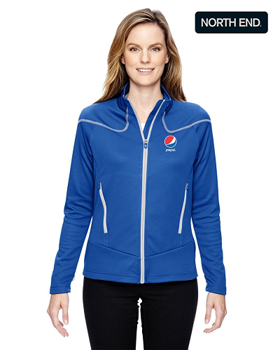 Noth End Ladies  Interactive Cadance Two-Tone Brush Back Jacket - Pepsi