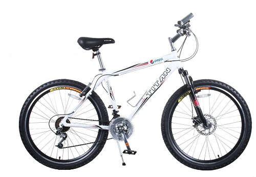 Titan White Knight   Mens 21 Speed Bicycle - Pepsi