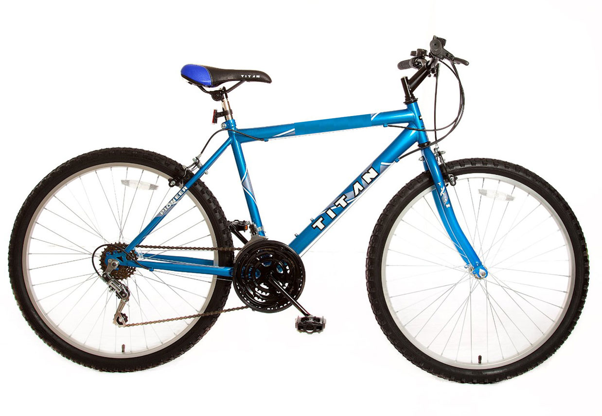 Titan Pioneer   Blue   Mens 12 Speed Bicycle - Pepsi