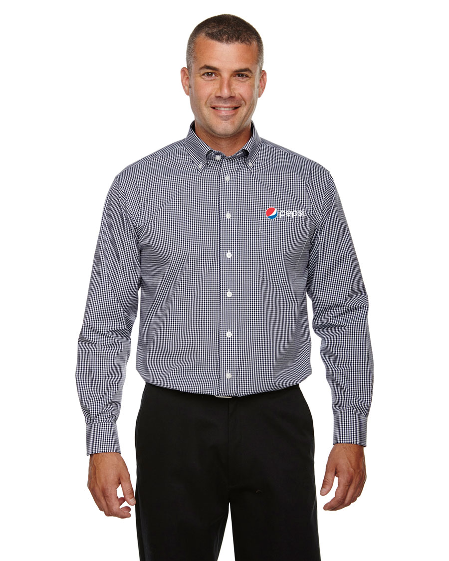 Mens Gingham Check Shirt