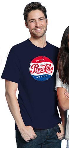 Pepsi Cola Retro Vintage Men's Tshirt - Navy