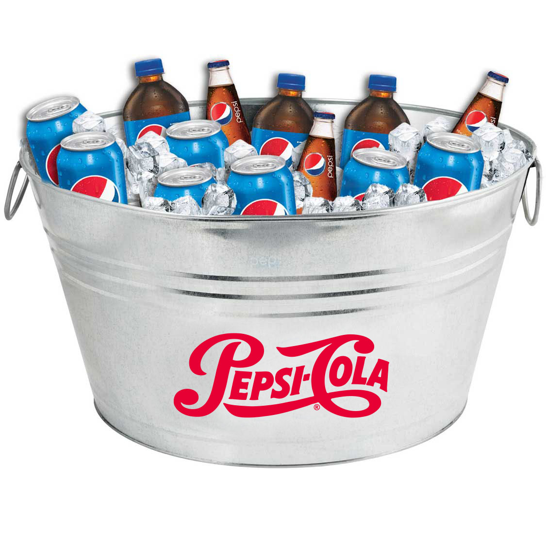 Oval Galvanized Metal Tub - Pepsi Cola