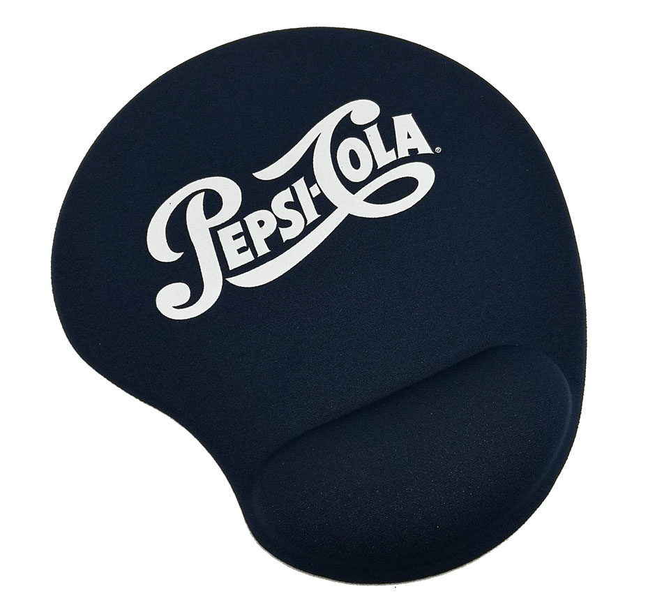 Solid Jersey Gel Mouse Pad / Wrist Rest - Pepsi-Cola