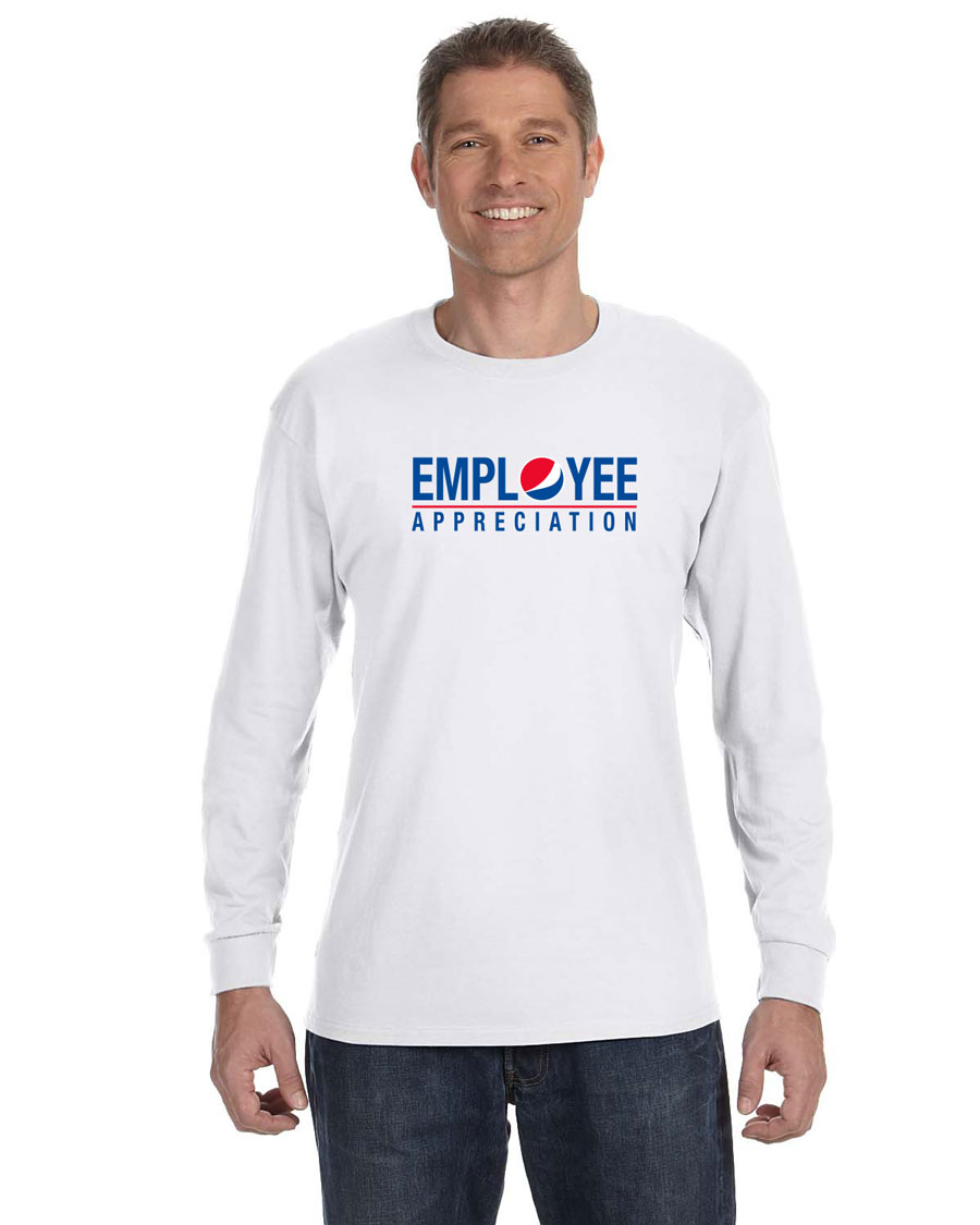 Men's White Long-Sleeve T-Shirt - Employee Appreciation