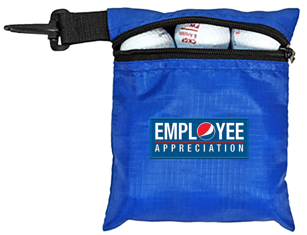 Golf Ball Pouch with Hook - Employee Appreciation