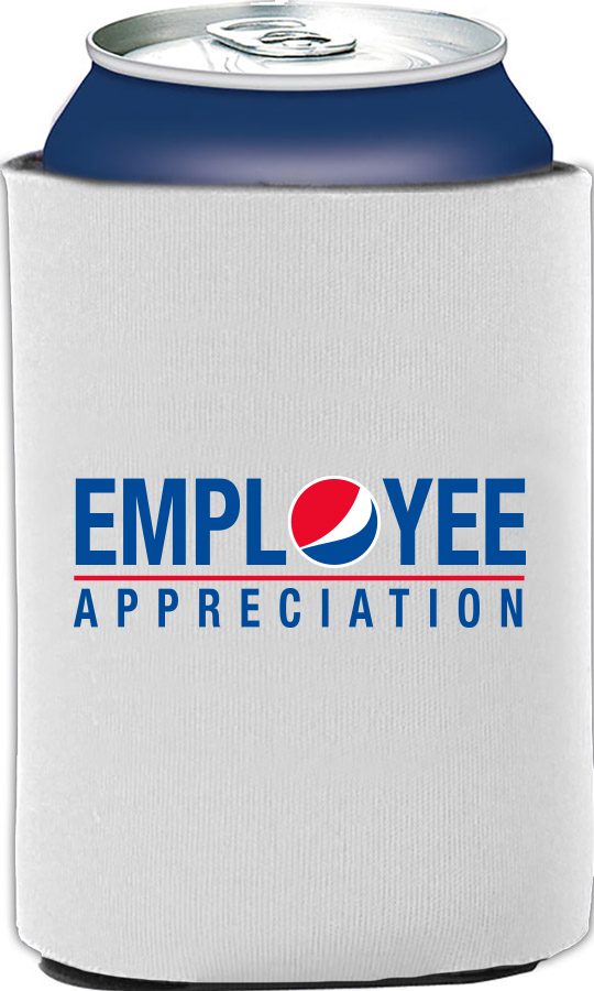 Employee Appreciation Collapsible Foam Can Holder - White