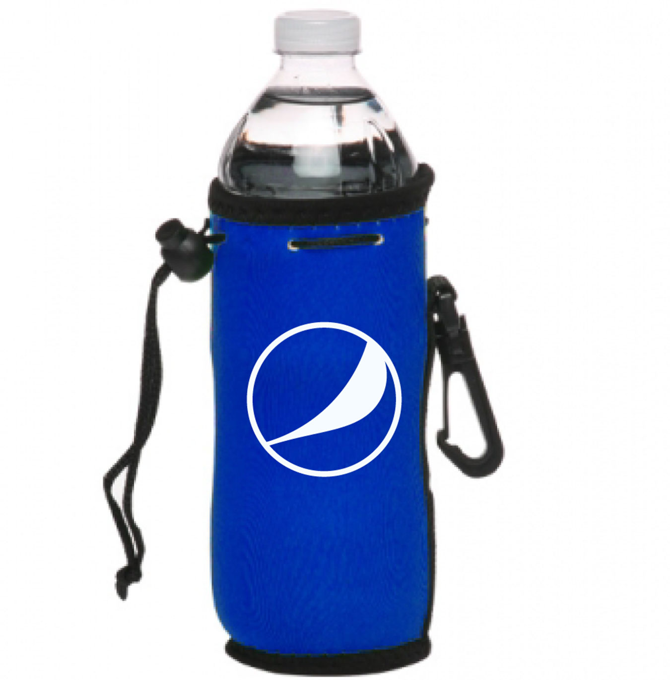 Neoprene Water Bottle Drawstring Insulator - Pepsi Globe