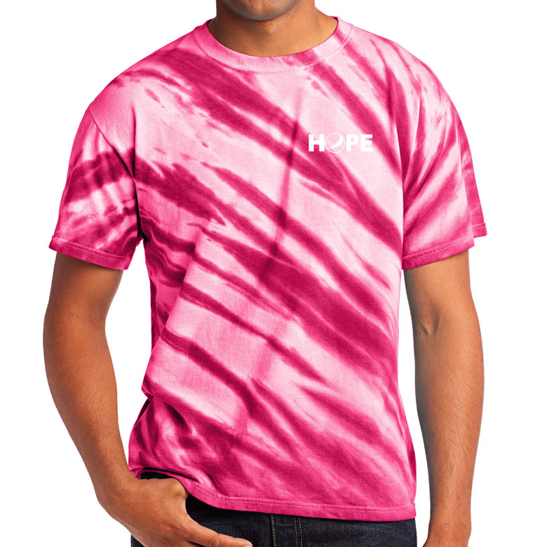 Tiger Stripe Tie-Dye Tee - HOPE