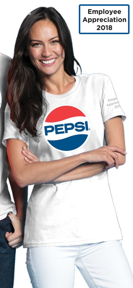 Pepsi Retro Vintage Ladies Tshirt - White