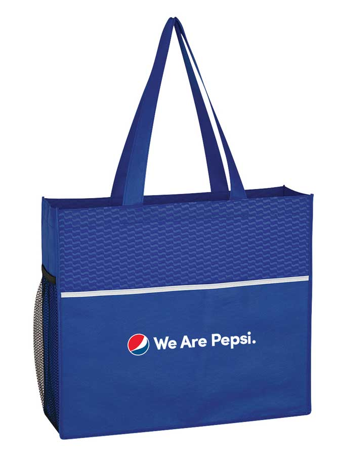 Non-Woven Wave Design Tote Bag - We Are Pepsi