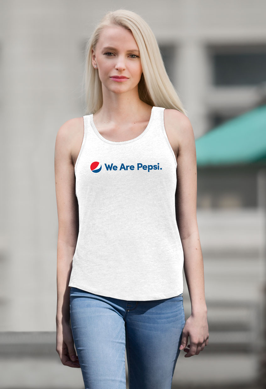 Ladies' Tank Top - White - We Are Pepsi