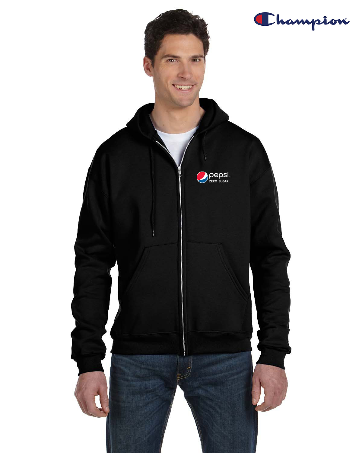 Champion Adult 9 oz. Double Dry Eco® Full-Zip Hooded Sweatshirt