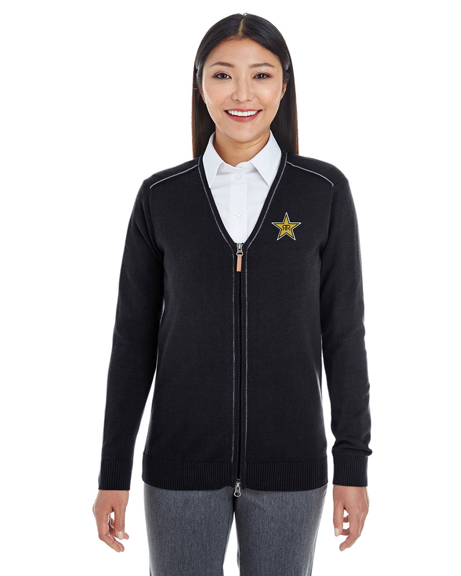 Ladies' Manchester Fully-Fashioned Quarter-Zip Sweater - Rockstar