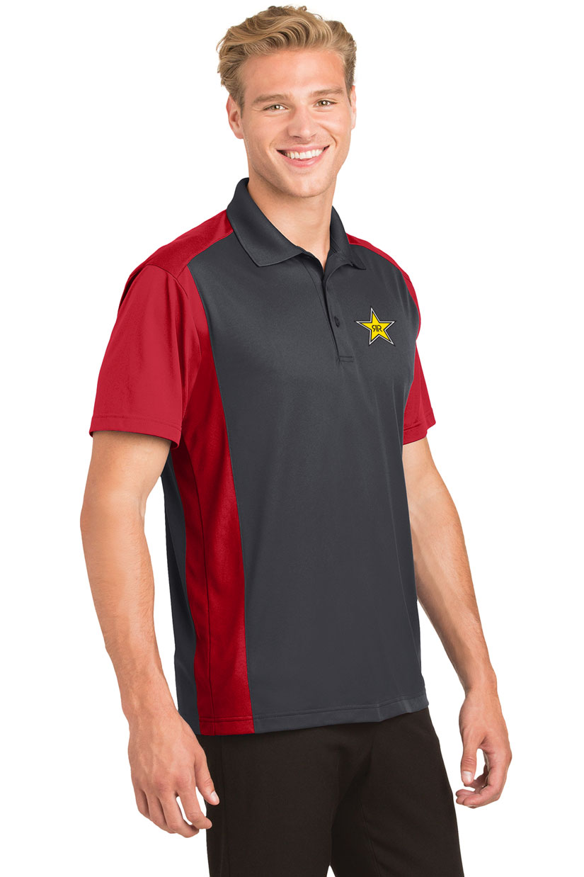 Men's Colorblock Micropique Sport-Wick® Polo - Rockstar